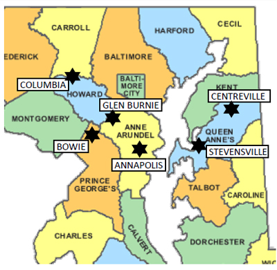 Map To Anne Arundel Counseling